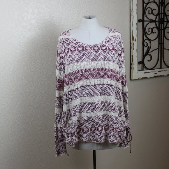 Knox Rose Sweater with side ties XL